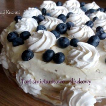 Tort śmietankowy z powidłami Jamar