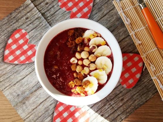 Smoothie bowl wiśniowo-bananowe