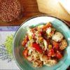 Sałatka z bundzu, warzyw i kaszy gryczanej