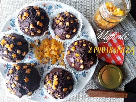 Muffinki czekoladowe z pomarańczą