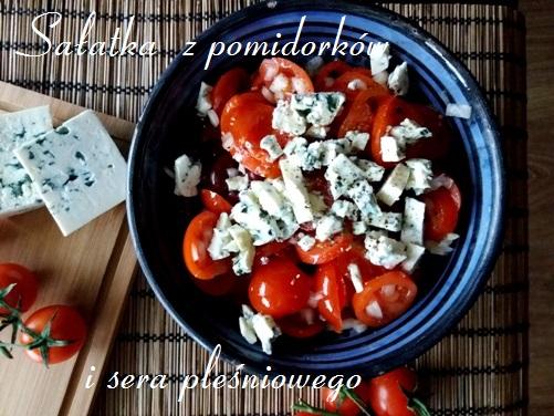 Sałatka z pomidorków i sera pleśniowego