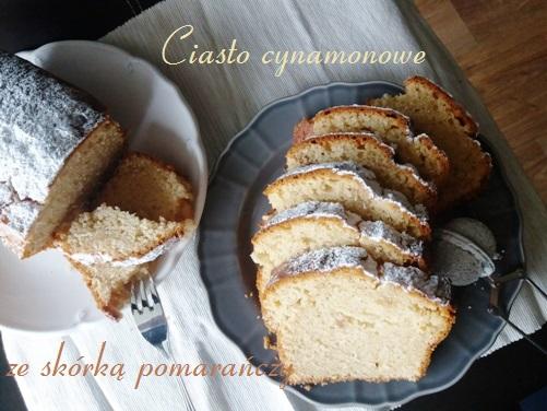 Ciasto cynamonowe ze skórką pomarańczy