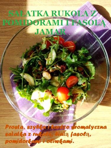 Sałatka rukola z pomidorami i białą fasolą Jamar