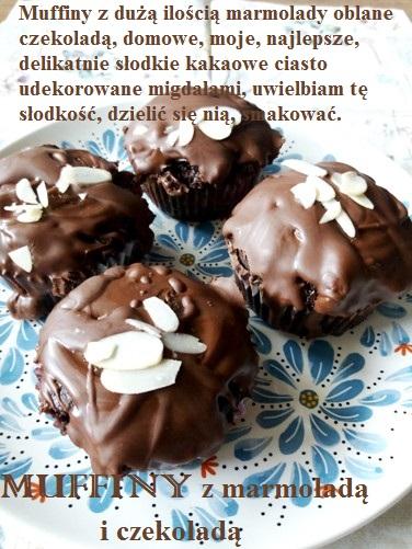 Muffiny z marmoladą i czekoladą