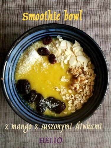 Smoothie bowl z mango z suszonymi śliwkami Helio
