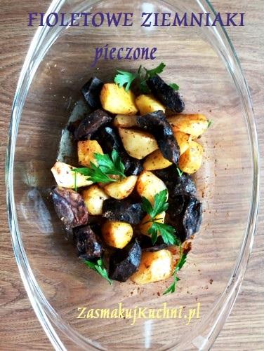 Fioletowe ziemniaki truflowe pieczone