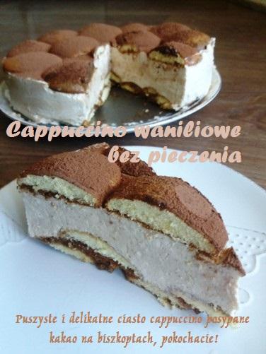 Cappuccino waniliowe bez pieczenia