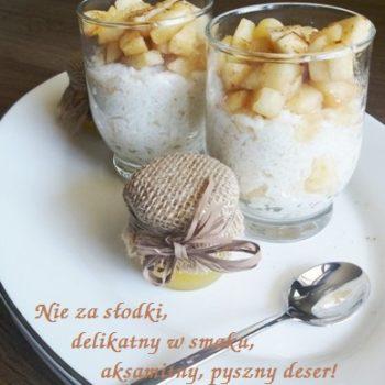 Pudding ryżowy z jabłkami