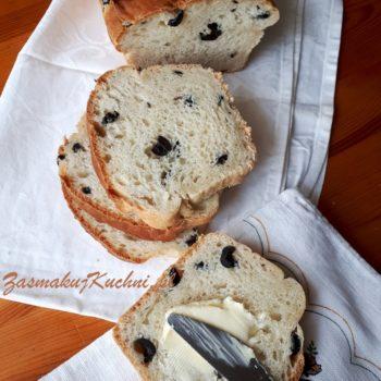 Ekspresowy chleb z oliwkami