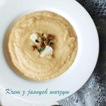 Zupa krem z jasnych warzyw