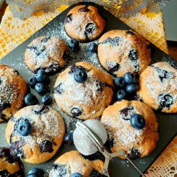 Muffiny bananowo-borówkowe